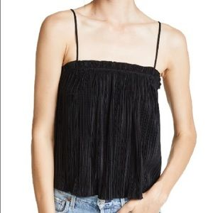 Madewell texture & thread micropleat tank
